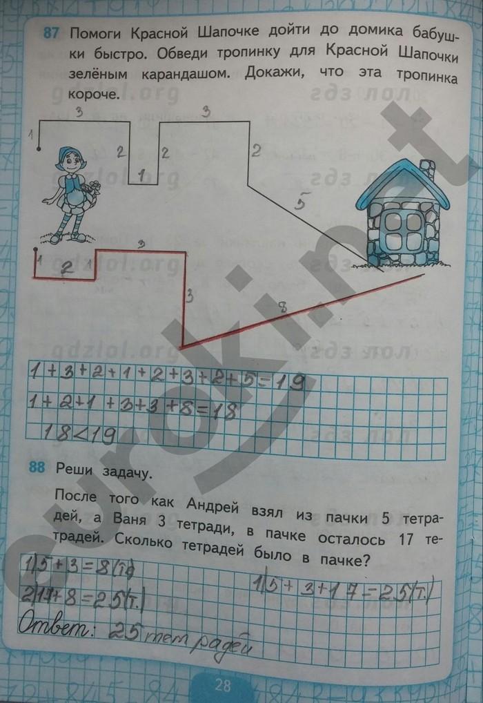Тетрадь класс рабочая 2 кремневой решебник 4 часть