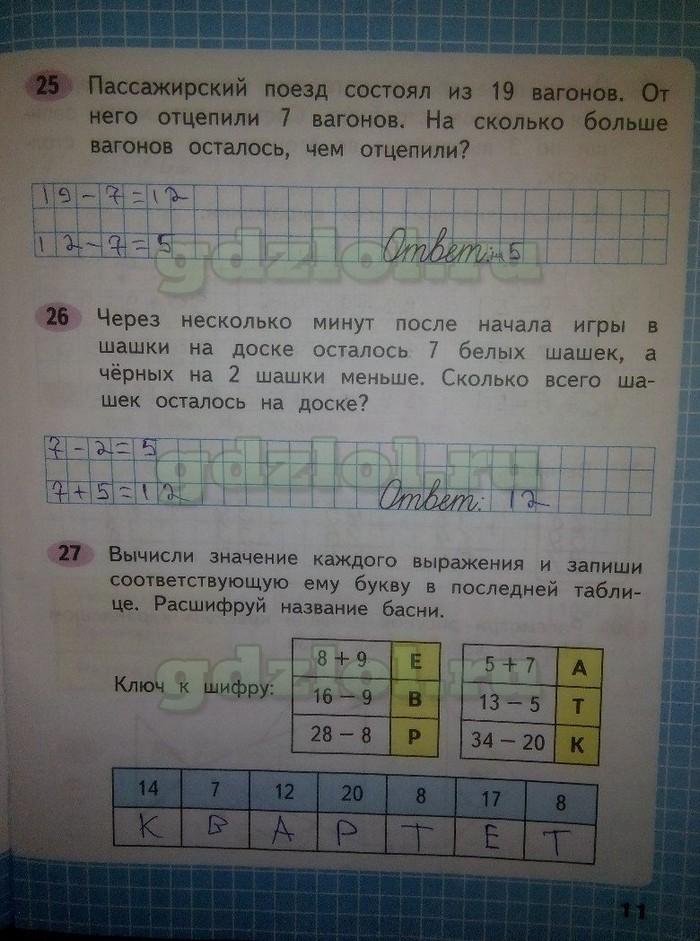 гдз математика 4 класс рабочая тетрадь моро бантова