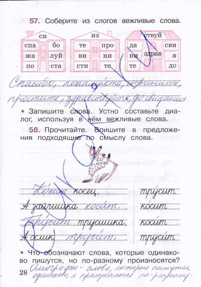 Ответы на домашнее по русскому языку 2 класс автар канакина