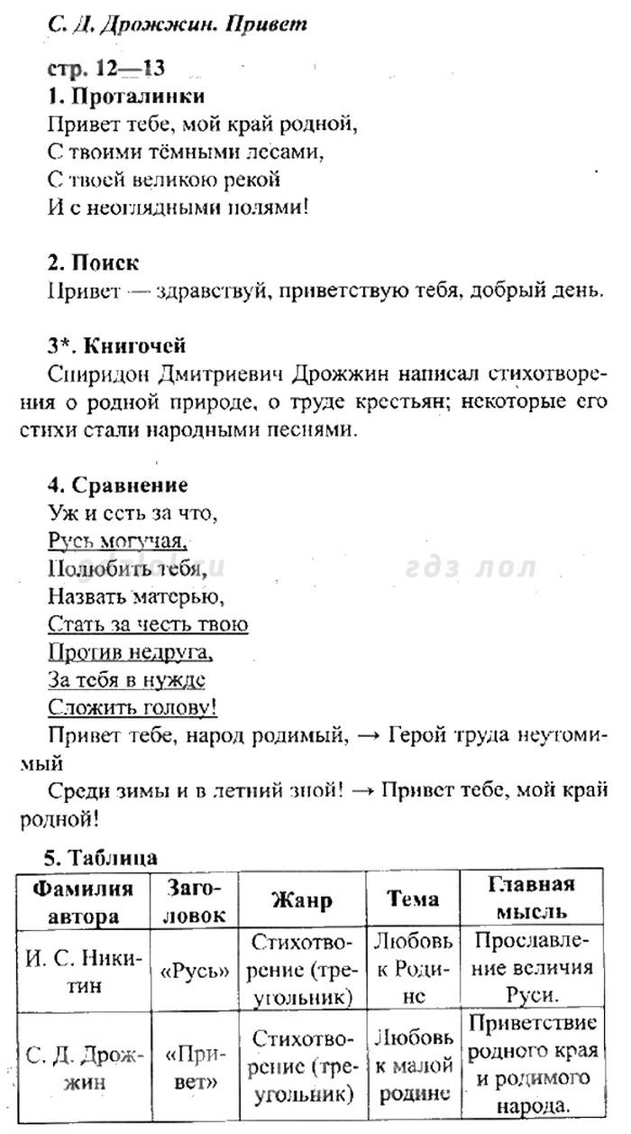 Гдз Литературное Чтение 2 Класс Рабочая Тетрадь Ответы Ефросинина 2