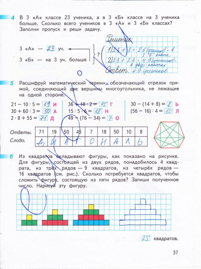 математика 2 класс дорофеев миракова бука решебник
