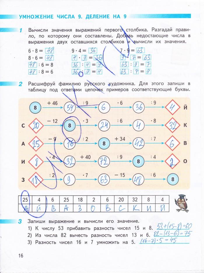 ГДЗ ГДЗ решебник по математике 3 класс Дорофеев Миракова Бука (Ответы)