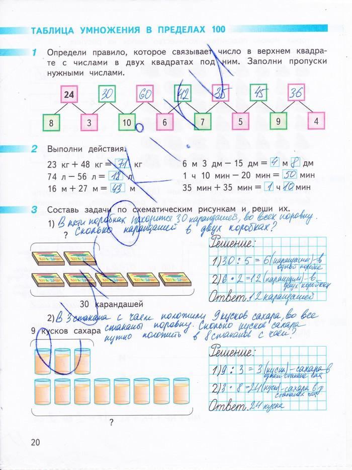 Математика 3 класс дорофеева решебник 2 часть рабочей тетради