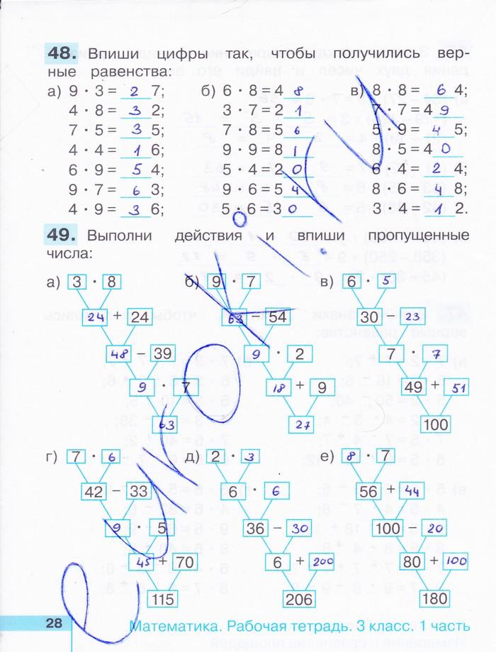 Математика 3 класс истомина рабочая тетрадь стр 64 115 решить