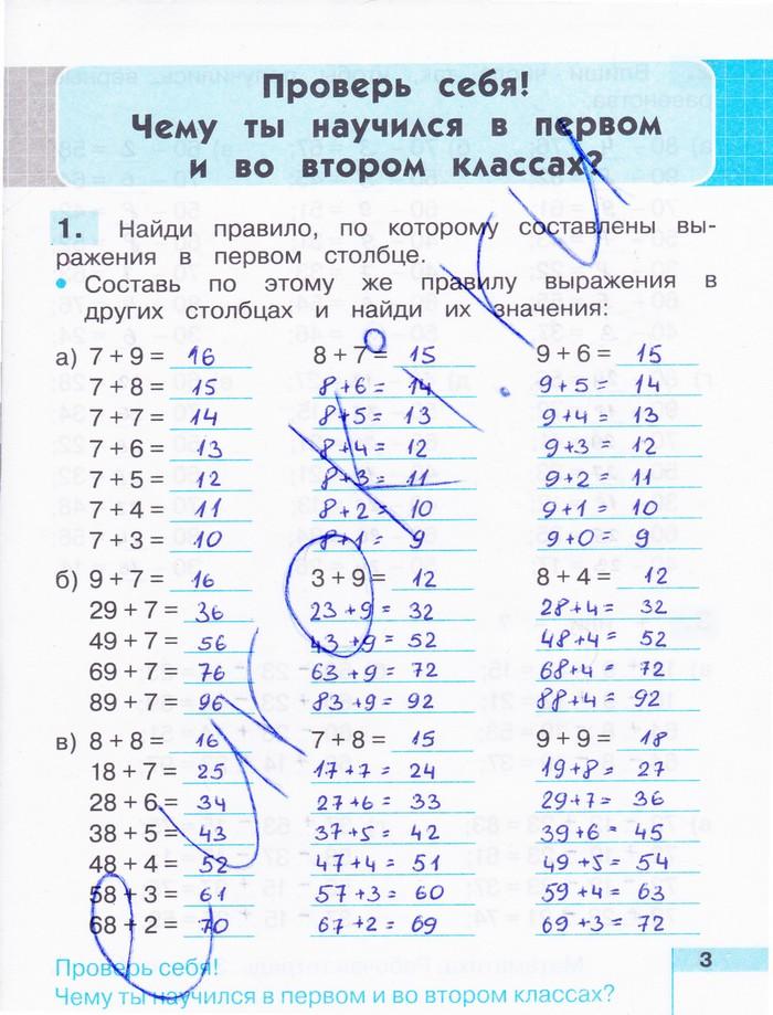 Тетрадь по математике 2 класс истомина ответы