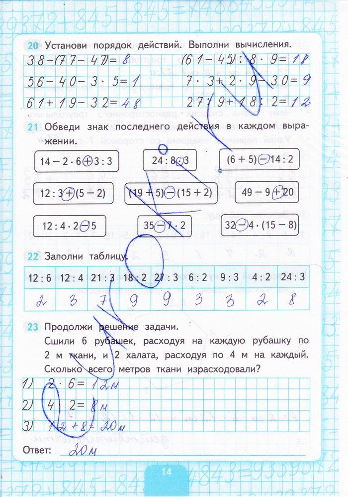 Рабочая тетрадь по математике 2 кремнева ответы
