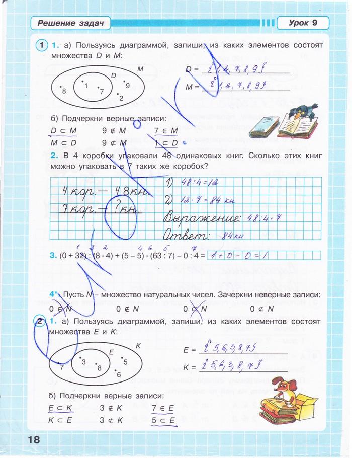 Домашняя работа по математике 3класс 2 четверть
