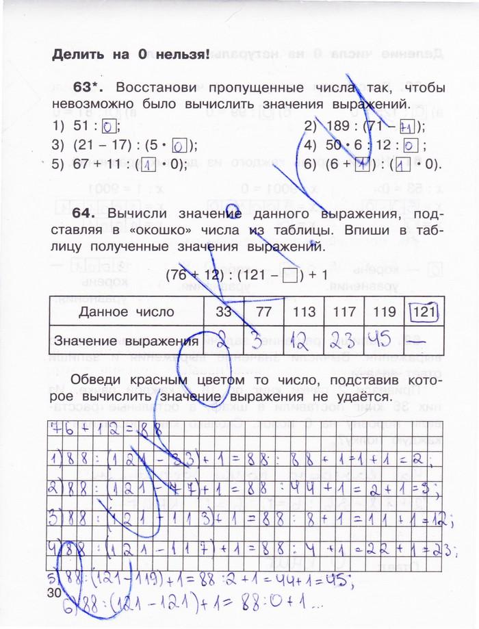 Решебник По Математике 3 Класса 2 Часть Ответы О.а Захарова