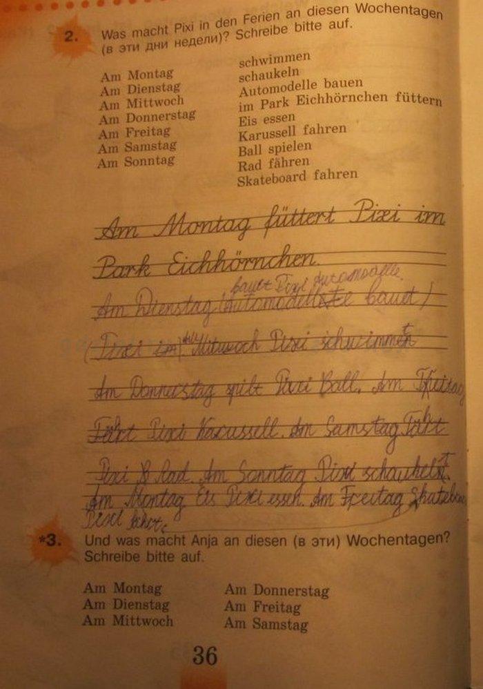 Рабочая программа по немецкому языку 3 класс бим