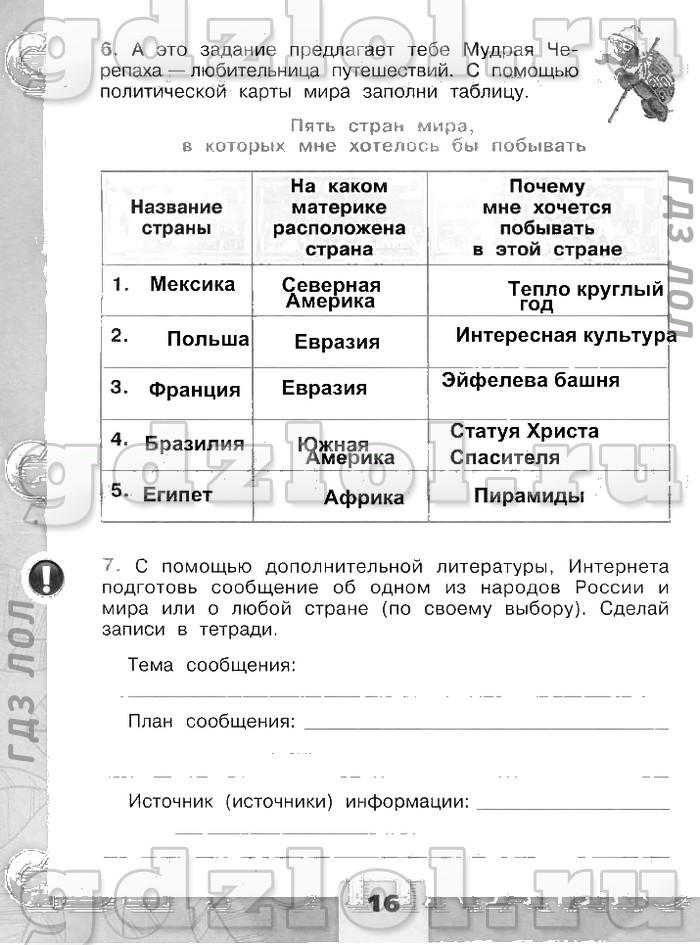 Контрольные работы по окружающему миру 3 класс дмитриева