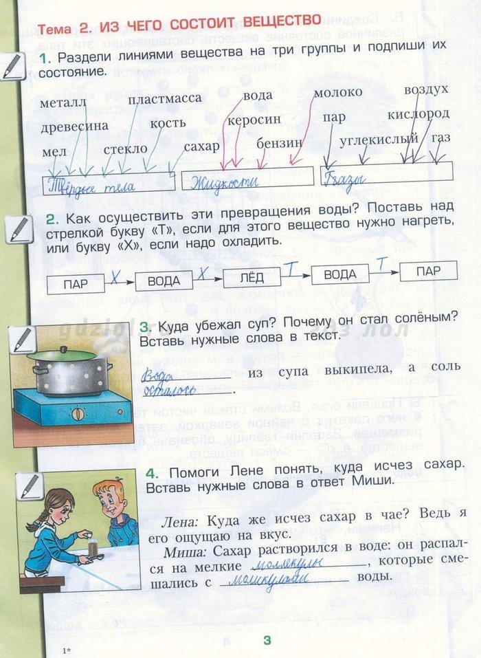 Скачать рабочая тетрадь по окружающему миру вахрушев 3 класс