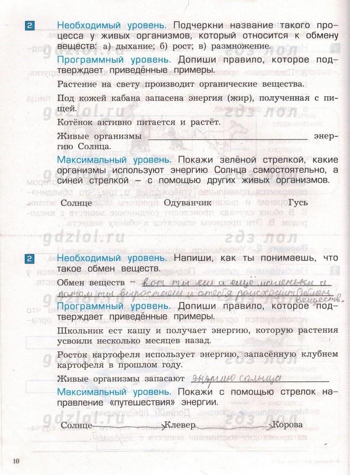 ГДЗ по Окружающему миру 3 класс Вахрушев, Бурский, Раутиан Рабочая тетрадь