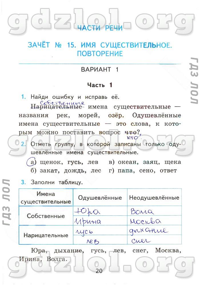 решебник по зачетным работам по русскому языку 5 класс потапова ответы