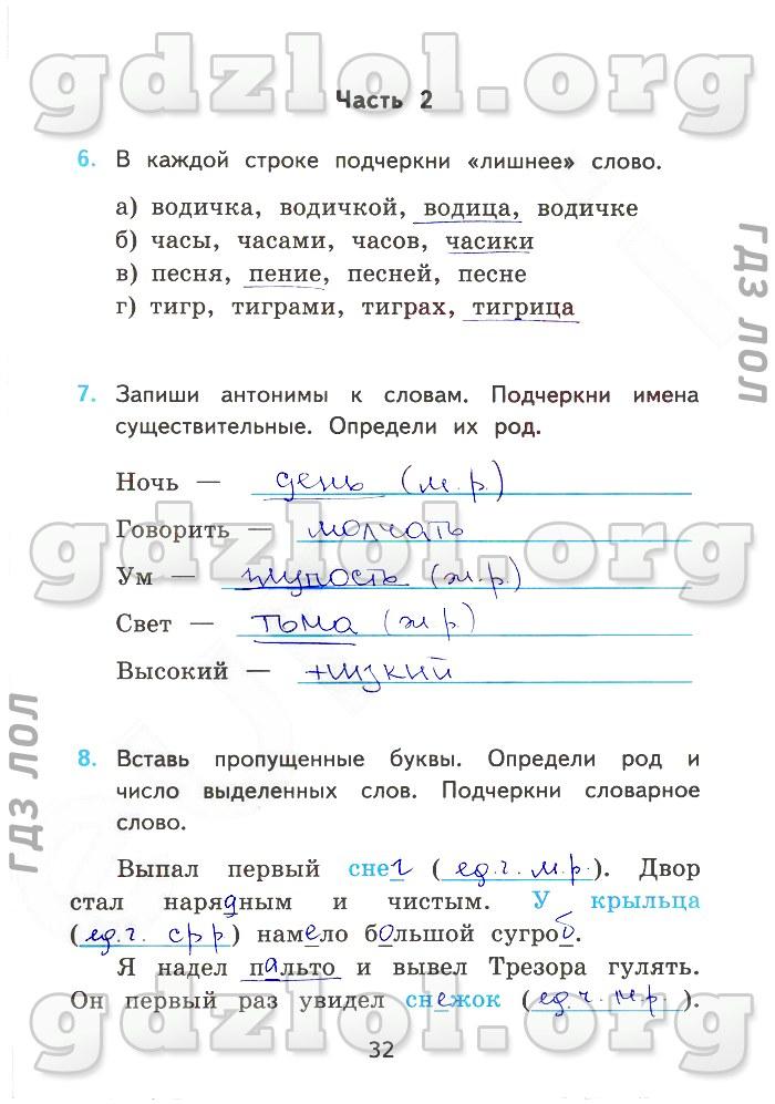 Гдз зачетная работа по русскому 6 класс