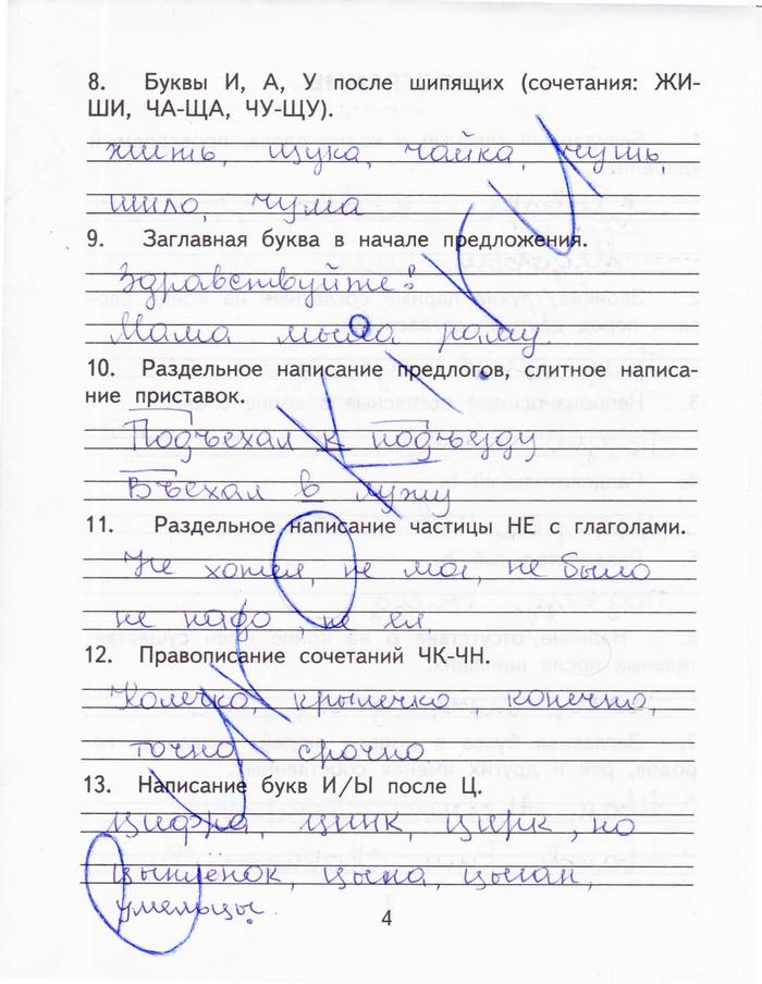 гдз по русскому языку зачетная тетрадь