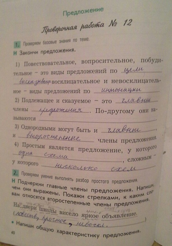 Проверочные и контрольные работы по русскому языку бунеева 2238