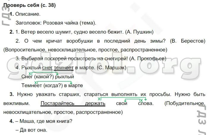 учебник 1 языку виноградова русскому гдз 4 по часть