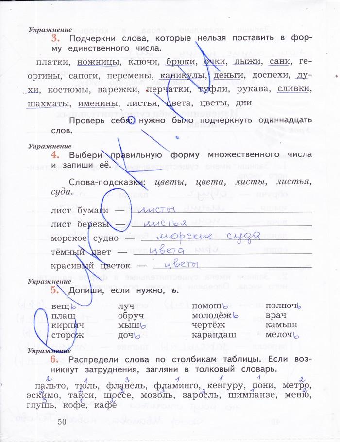 Гдз по русскому языку 3 класс кузнецова рабочая тетрадь