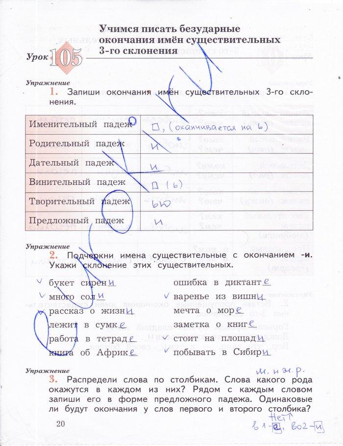 Решебник по русскому языку пишем грамотно 4 класс кузнецова ответы