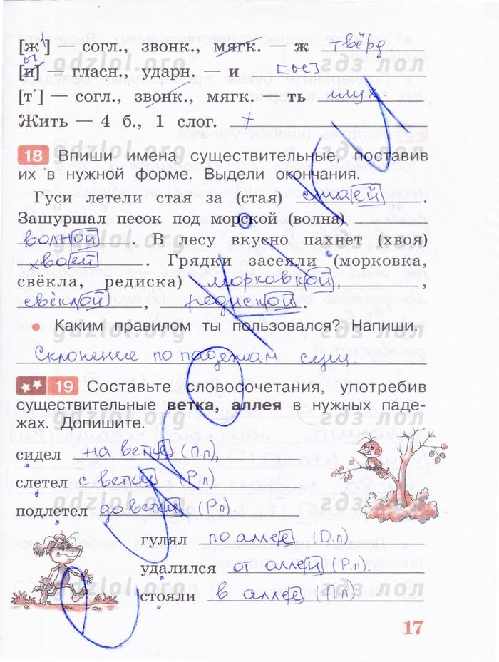 песняева анащенкова рабочая 1 класс