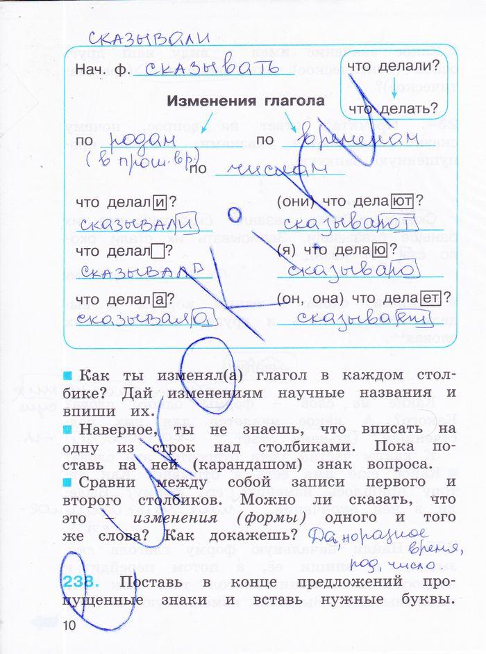 Решебник русский язык 4 класс тетрадь задачник соловейчик кузьменко 1 часть