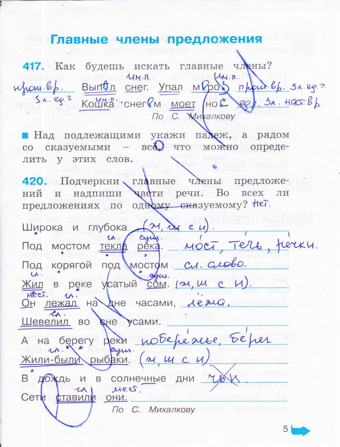 ГДЗ по русскому языку 4 класс Соловейчик Кузьменко 1, 2 часть