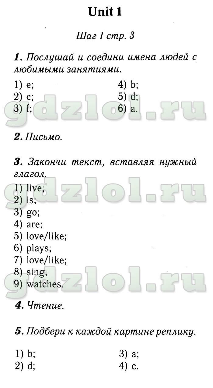Гдз по английскому языку 4 класс азарова