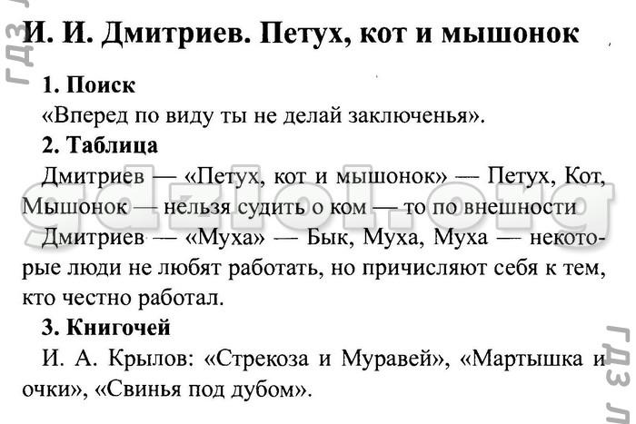 Читать дмитриева петух кот и мышонок читать