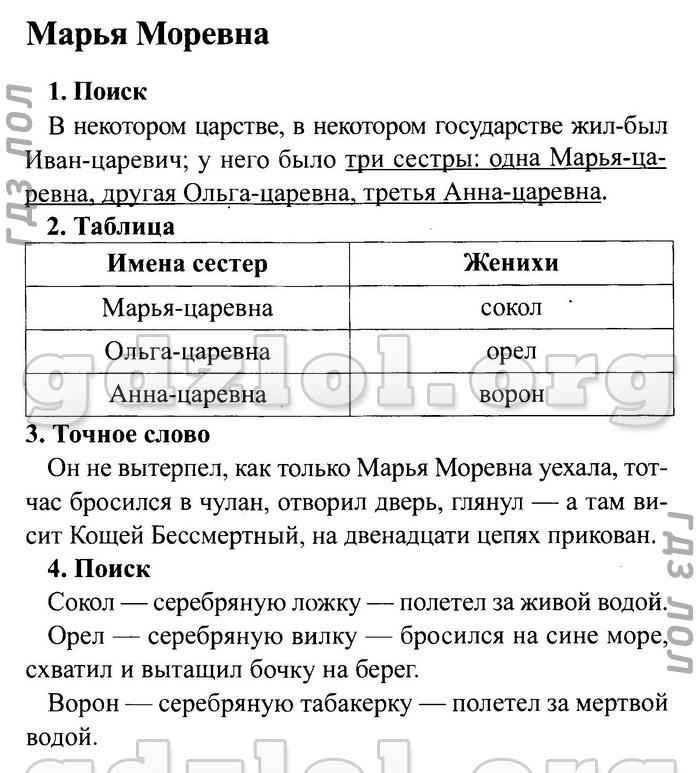Чтение 4 класс рабочая тетрадь ответы ефросинина