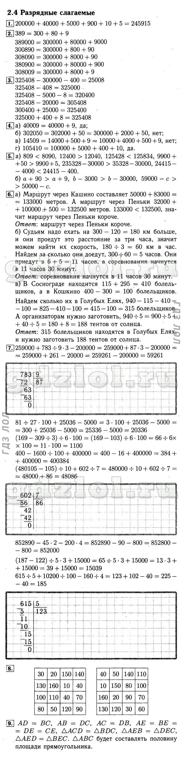 Математик 4 класс демидова решебник