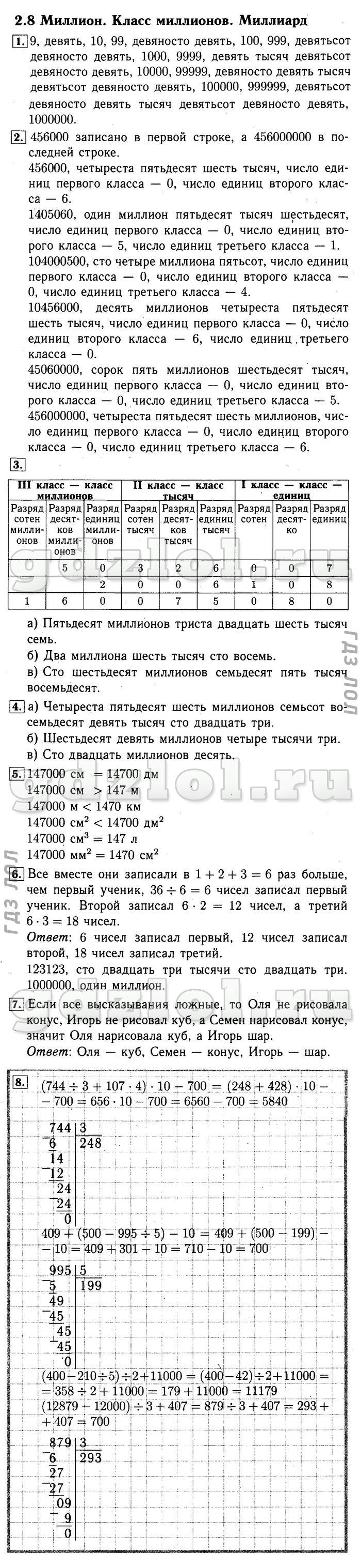 Гдз 3 Класс 2100 Демидова 2 Часть