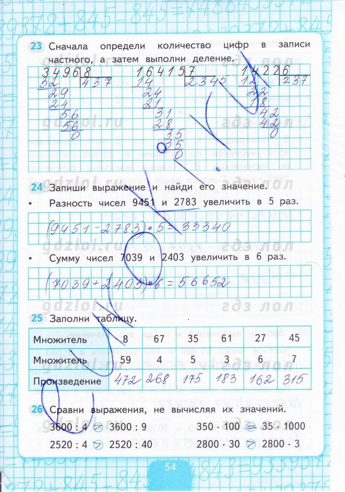 гдз математика 2 часть 4 класс кремнева