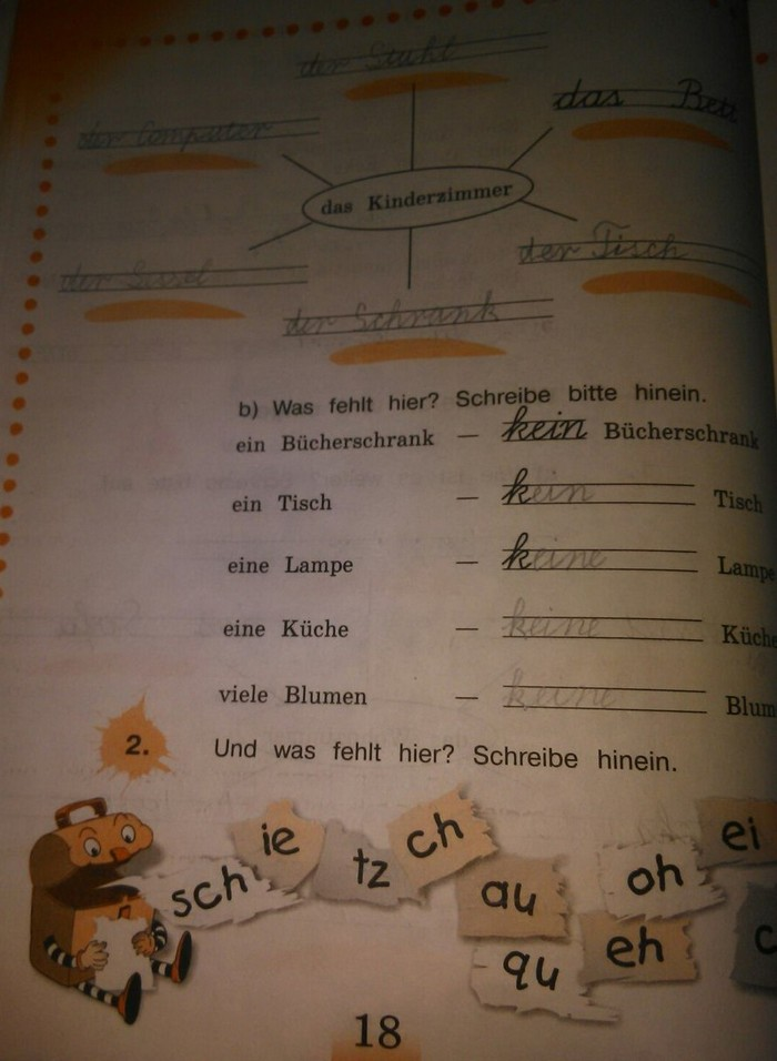 4 готовые рабочая домашние тетрадь язык задания немецкий класс