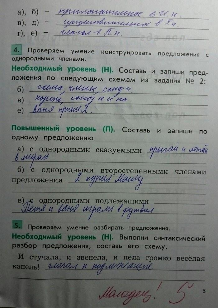 2100 самостоятельные и проверочные работы по русскому языку 4 класс ответы