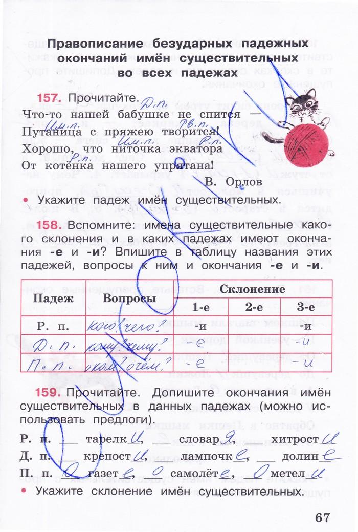 к часть языку канакина рабочей тетради 2 по 4 русскому класс гдз