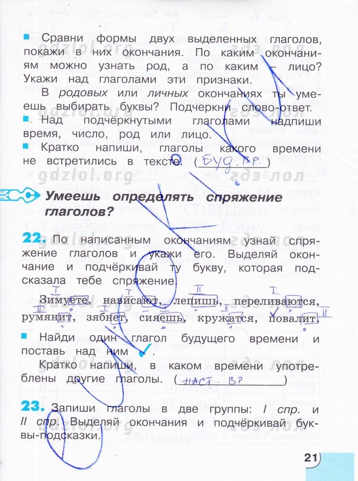 корешкова класс гдз язык 4 русский