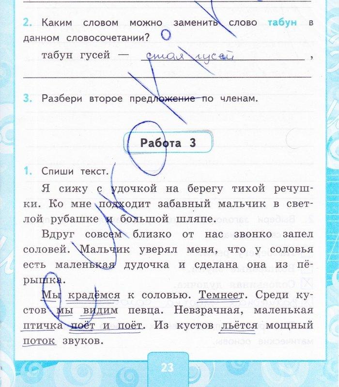 Контрольные работы русский язык 4 класс Канакина - Крылова