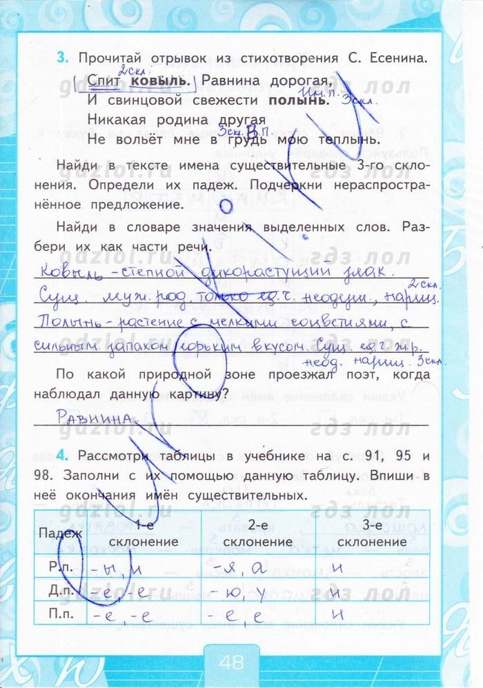 Рабочия тетрадь 3 класс по русскому языку тихомировой гдз