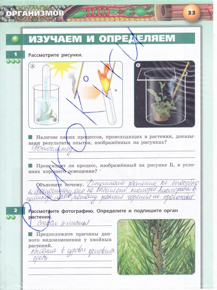 ГДЗ по биологии 7 класс тетрадь практикум