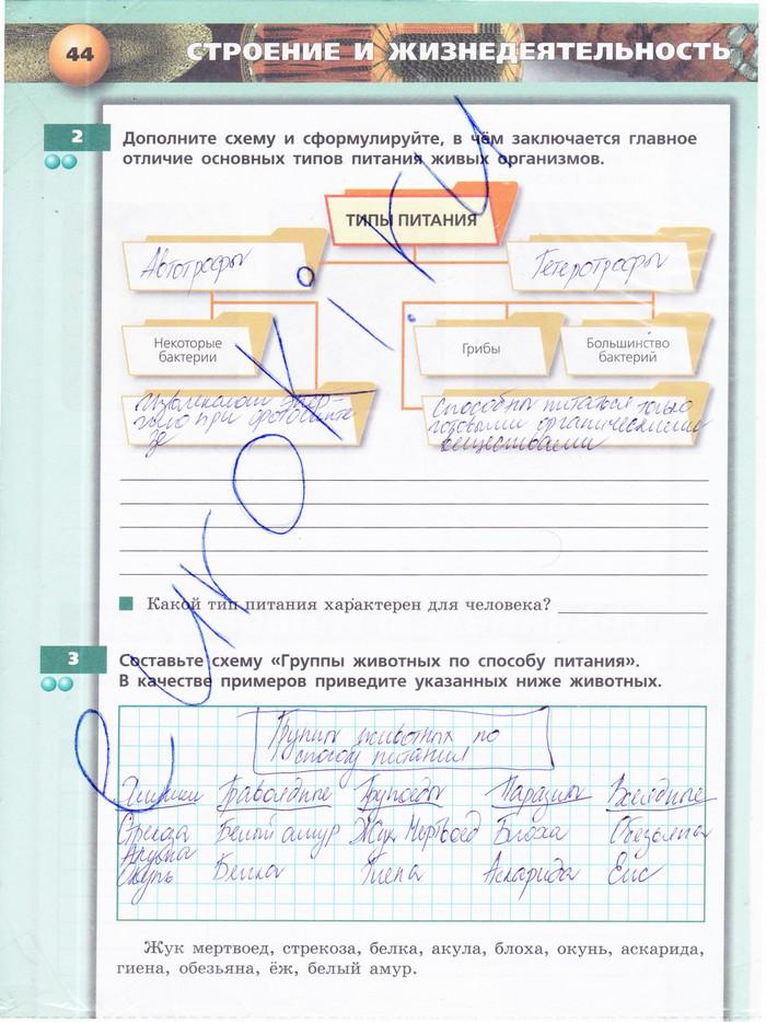 Биологии гдз класс по сухорукова тетрадь 1 6 часть тренажер