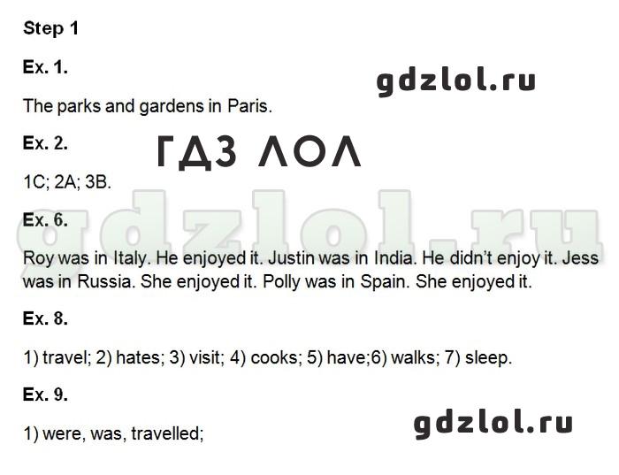 ГДЗ рабочая тетрадь по английскому языку