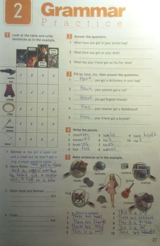 англ яз 5 класс решебник ваулина учебник
