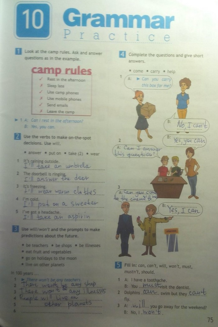 Английский язык готовые домашние задания spotlight 5 ккласса онлайн