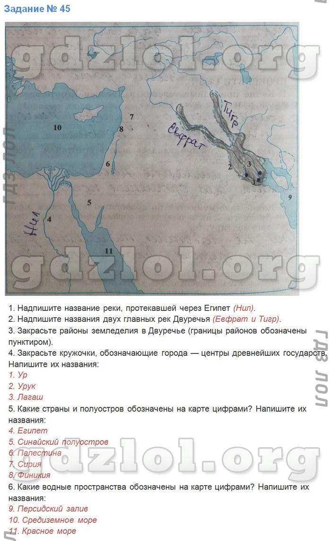 Готовые домашние задания по истории 5 класс рабочая тетрадь 1 часть