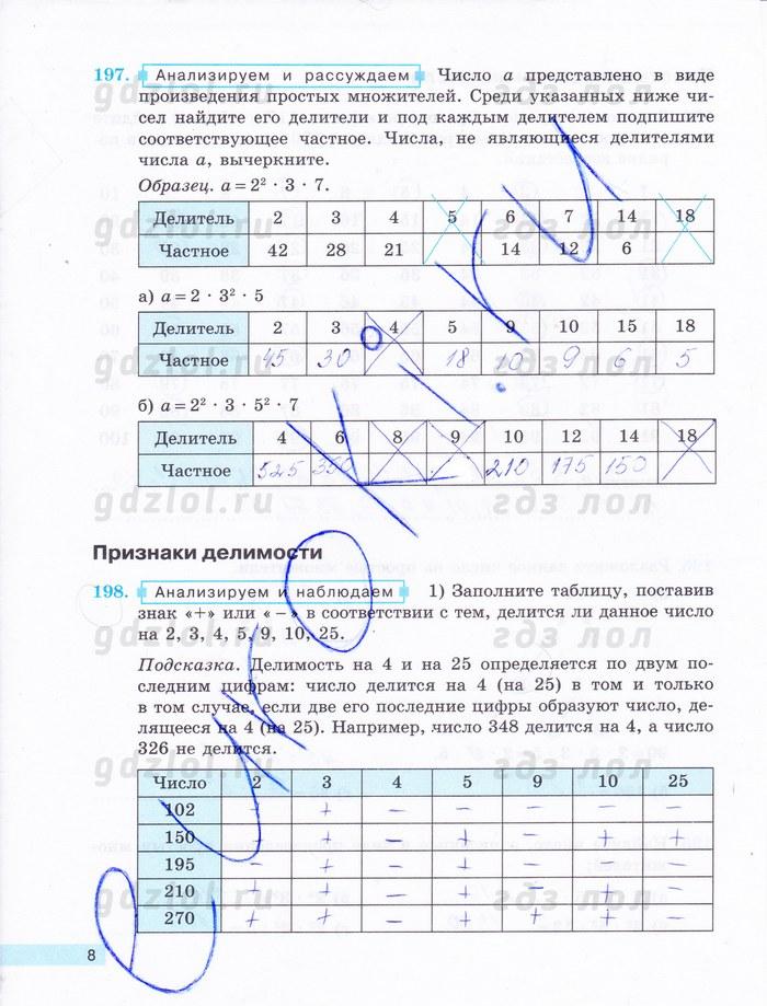 Гдз по математике 6 класс бунимович путин
