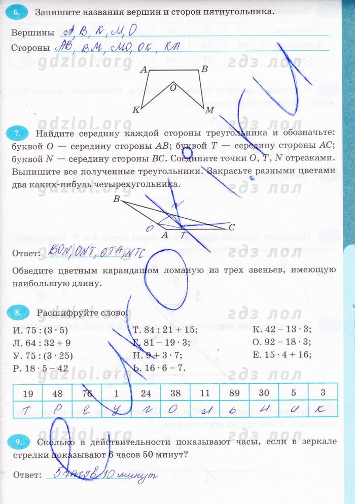 Скачать бесплатно решения т.м.ерина рабочая тетрадь по математике 5 класс