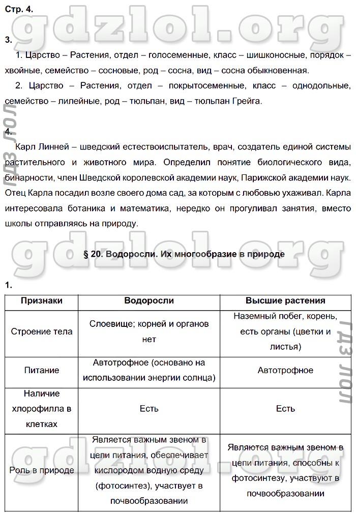 пономарёва гдз за 6 по биологии класс