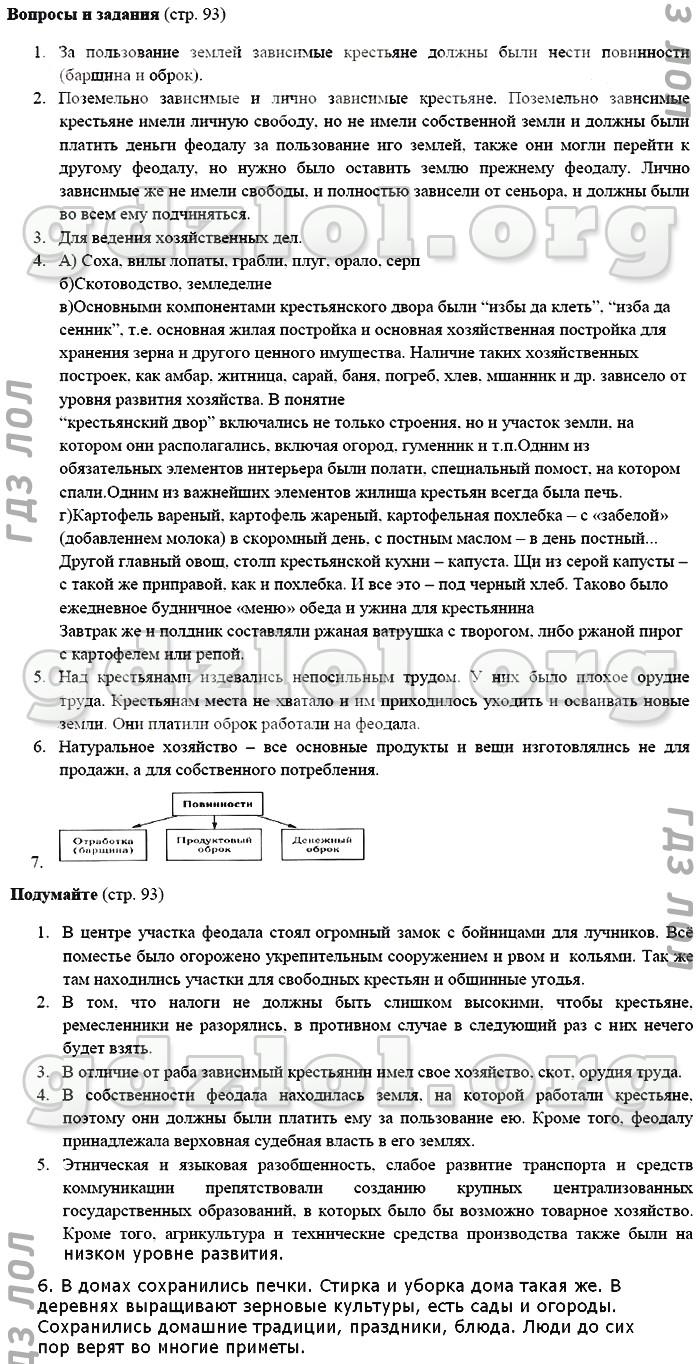 гдз по истории россии 7 класс пчелов ответы на вопросы