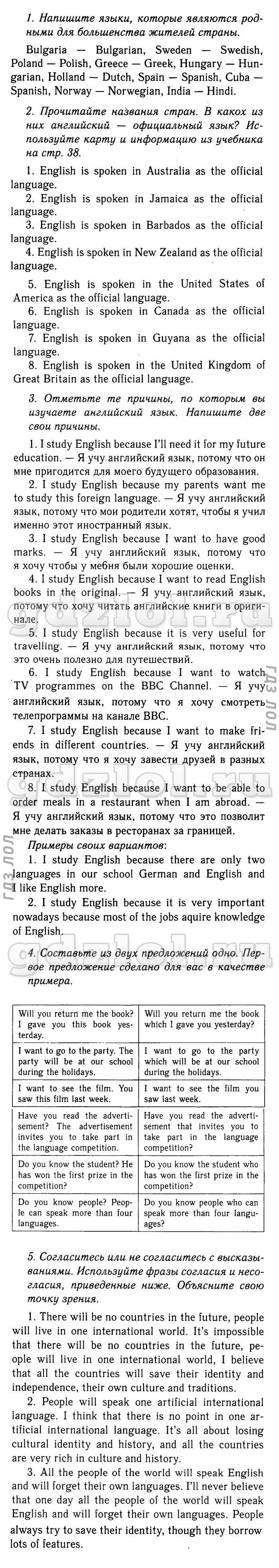Ответы на enjoy english 7 класс