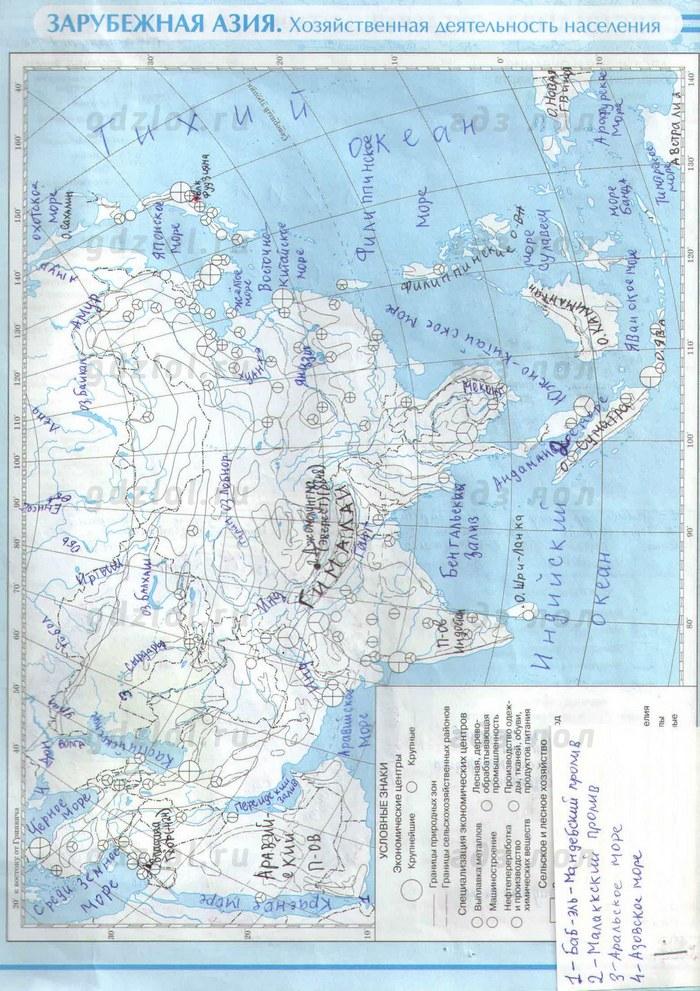 гдз по контурным картам 7 класс география дрофа учись быть первым